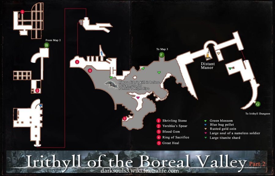 Maps   Dark Souls 3 Wiki Irithyll of the Boreal Valley Map 2 DKS3