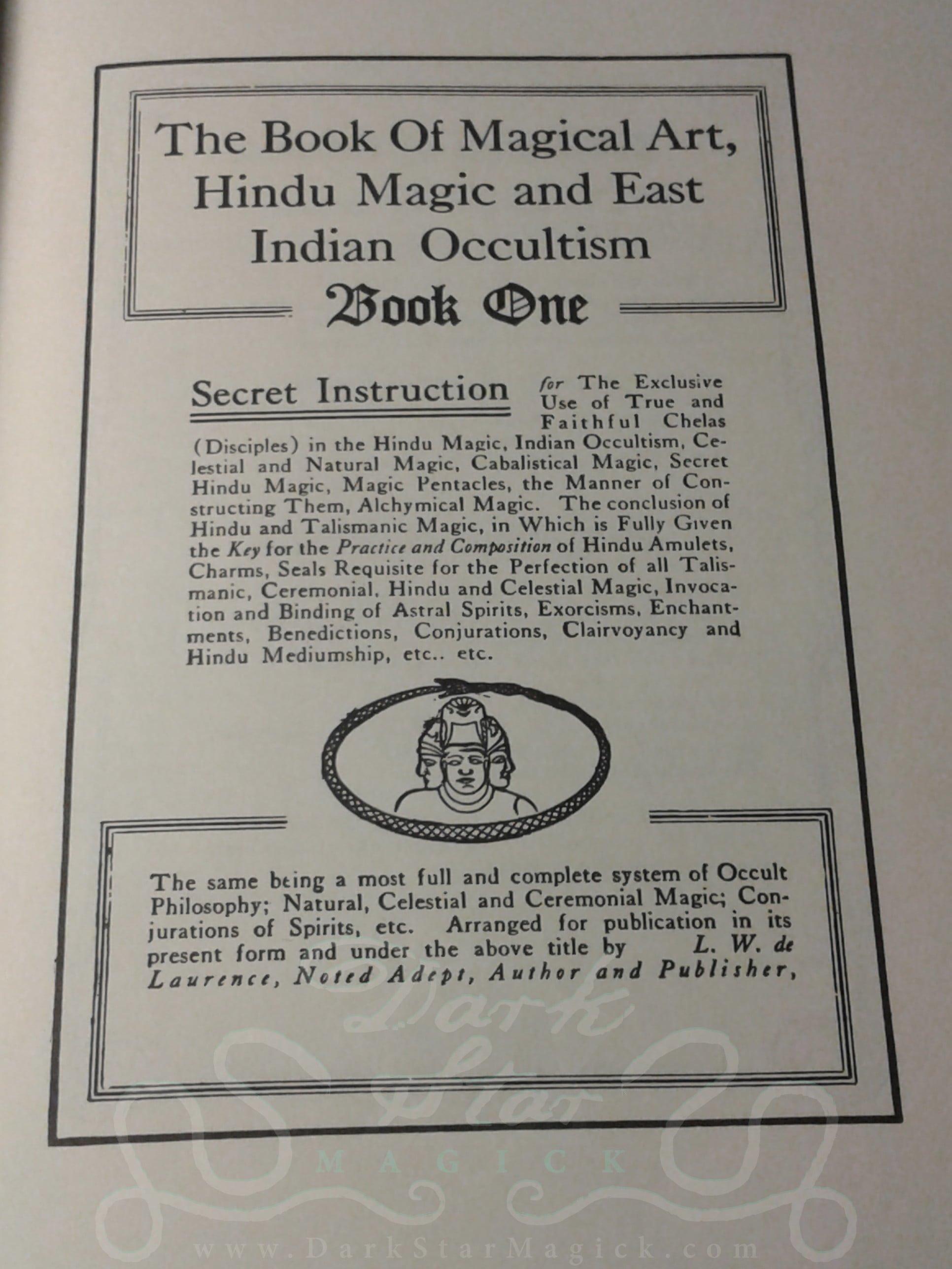 The Great Book on Magical Art, Hindu Magic 1939 ~ Dark Star Magick