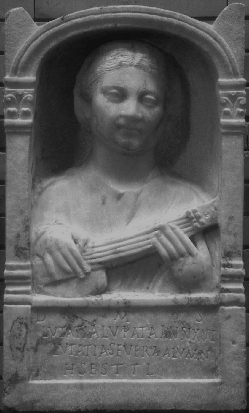 Anonymous, tombstone of Lutatia Lupata, National Museum of Roman Art Merida