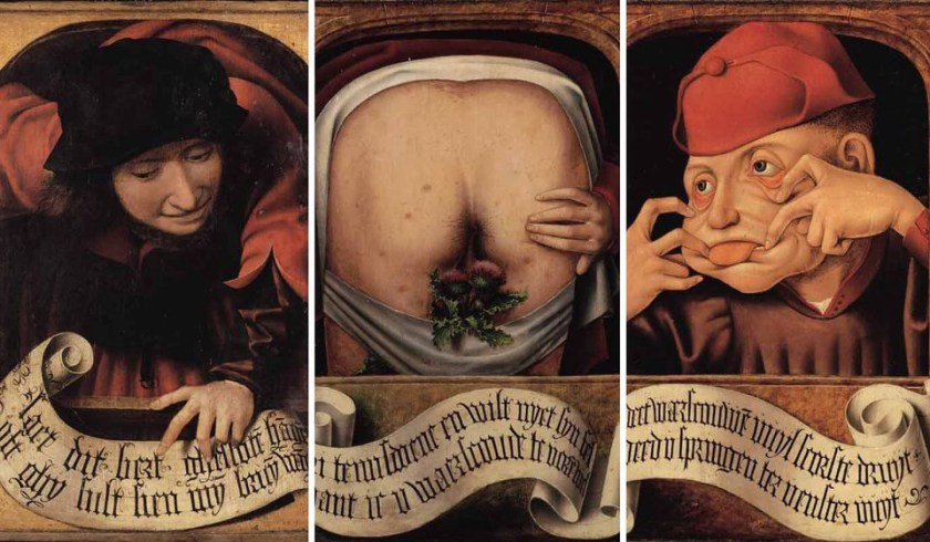 Anonymous, Satirical Diptych, beginning 16th Century, Bibliothèque Centrale Liège
