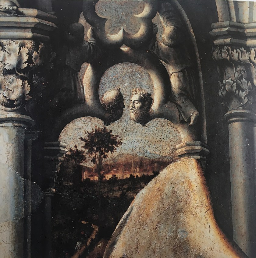 Barthélemy d'Eyck, The Aix Annunciation (detail middle part), ca. 1443-1444, Holy Ghost Church Aix-en-Provence