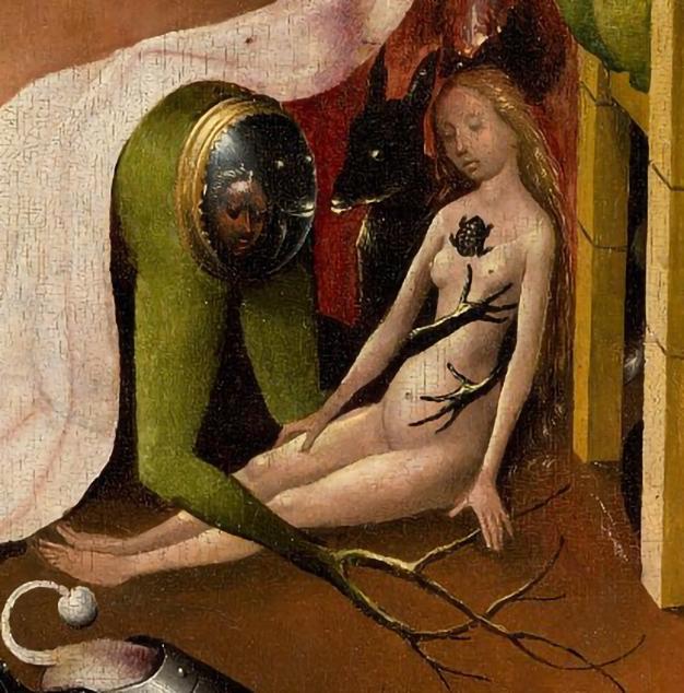 Jheronimus Bosch, The Garden of Earthly Delights (detail), 1503-1515, Museo del Prado Madrid