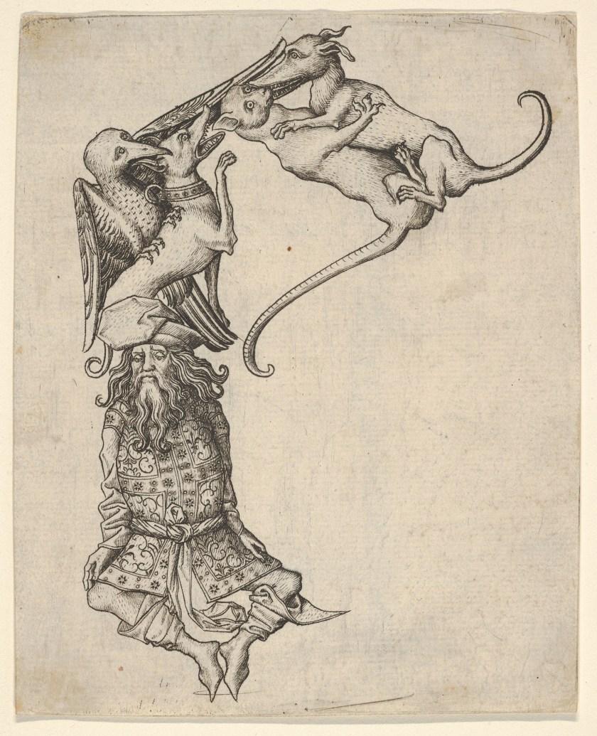 Master E.S., Letter E from the Alphabet, ca. 1466–67, The Metropolitan Museum of Art New York