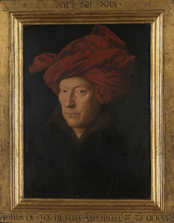 Jan van Eyck_Portrait of a Man (Selfportrait?), 1433, National Gallery London