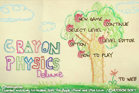 Crayon Physics Menu
