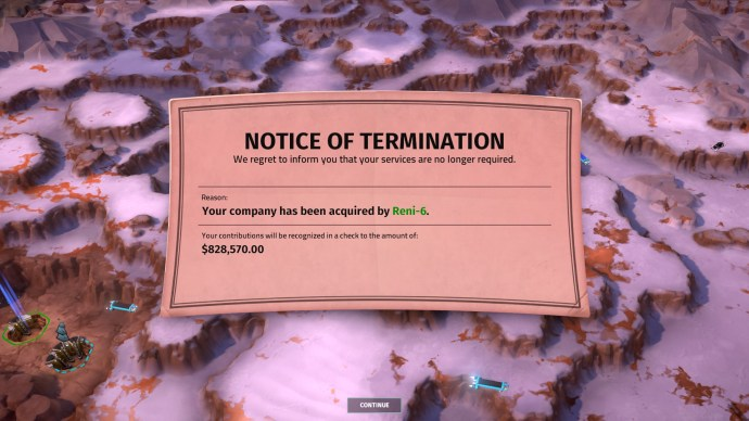 Game over: failure in Offworld Trading Company comes with a cash settlement