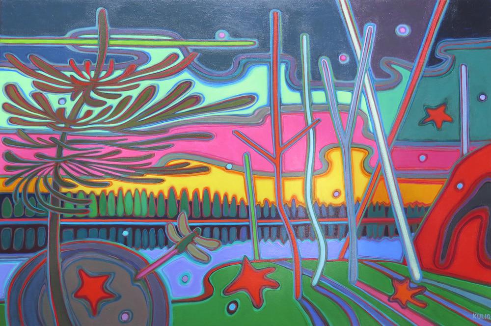Autumn Colours - Dragonfly 24 x 36 - Darlene Kulig