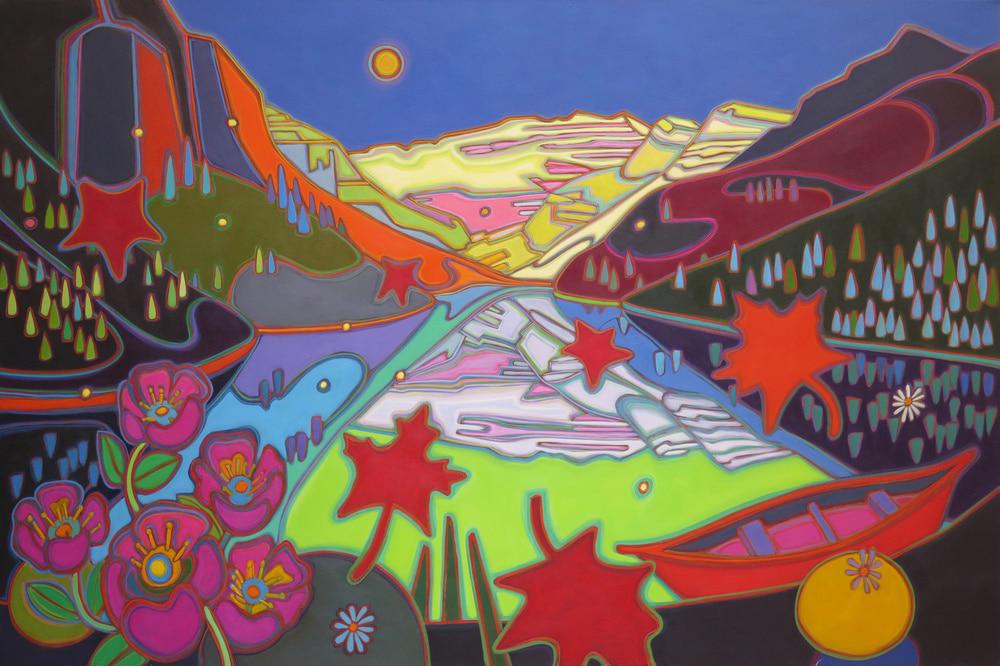 Canadian Rockies - Lake Louise Evening Glory 40 x-60 - Oct 3 - Darlene Kulig