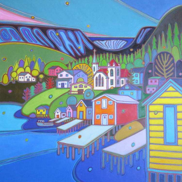Newfoundland - Bonne Bay - Newfoundland 36 x 36 - Darlene Kulig