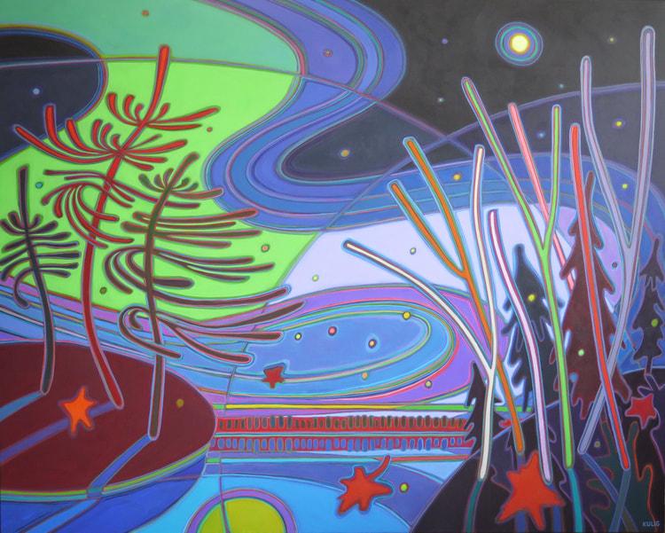 Northern Lights - Northern Dawn 48 x 60 - Darlene Kulig