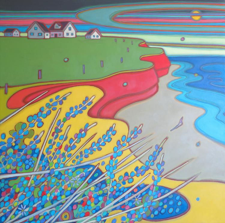 Prince Edward Island -Sunset Beach Walk 30 x 30 - Darlene Kulig