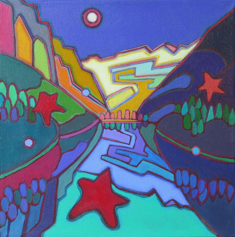 Small Canvases - Lake Louise 12 x 12 - Darlene Kulig