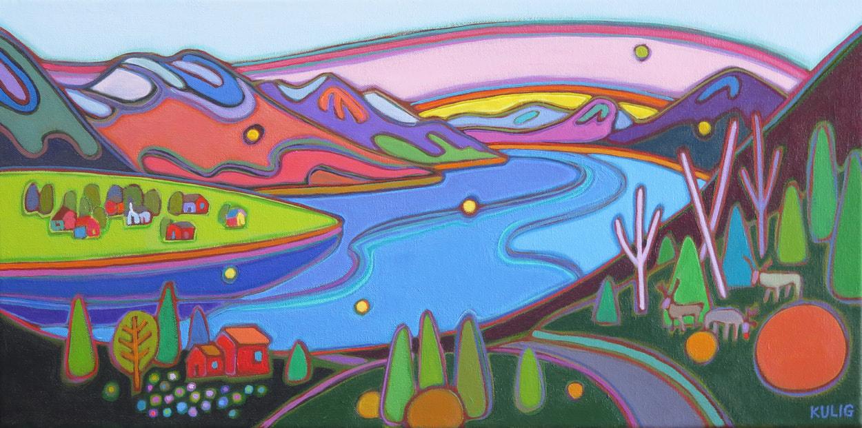 Small Canvases - Nicks Norway 12 x 24 - Darlene Kulig