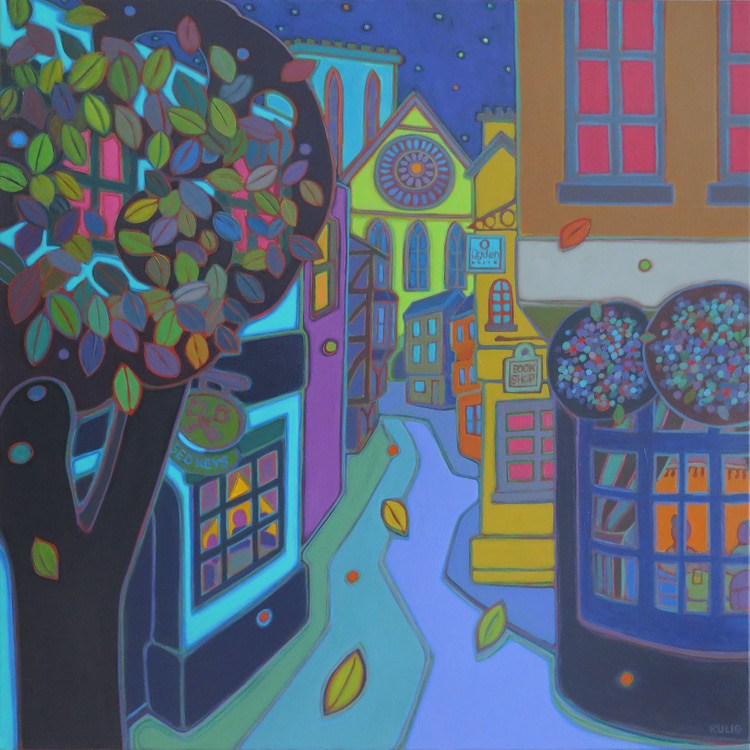 Small Towns and Villages - Pub Crawl 36 x 36 - Darlene Kulig