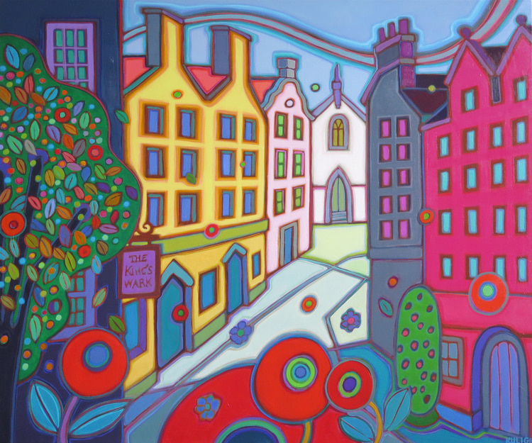 Small Towns and Villages - The Kings Wark 30 x 36 2019 - Darlene Kulig