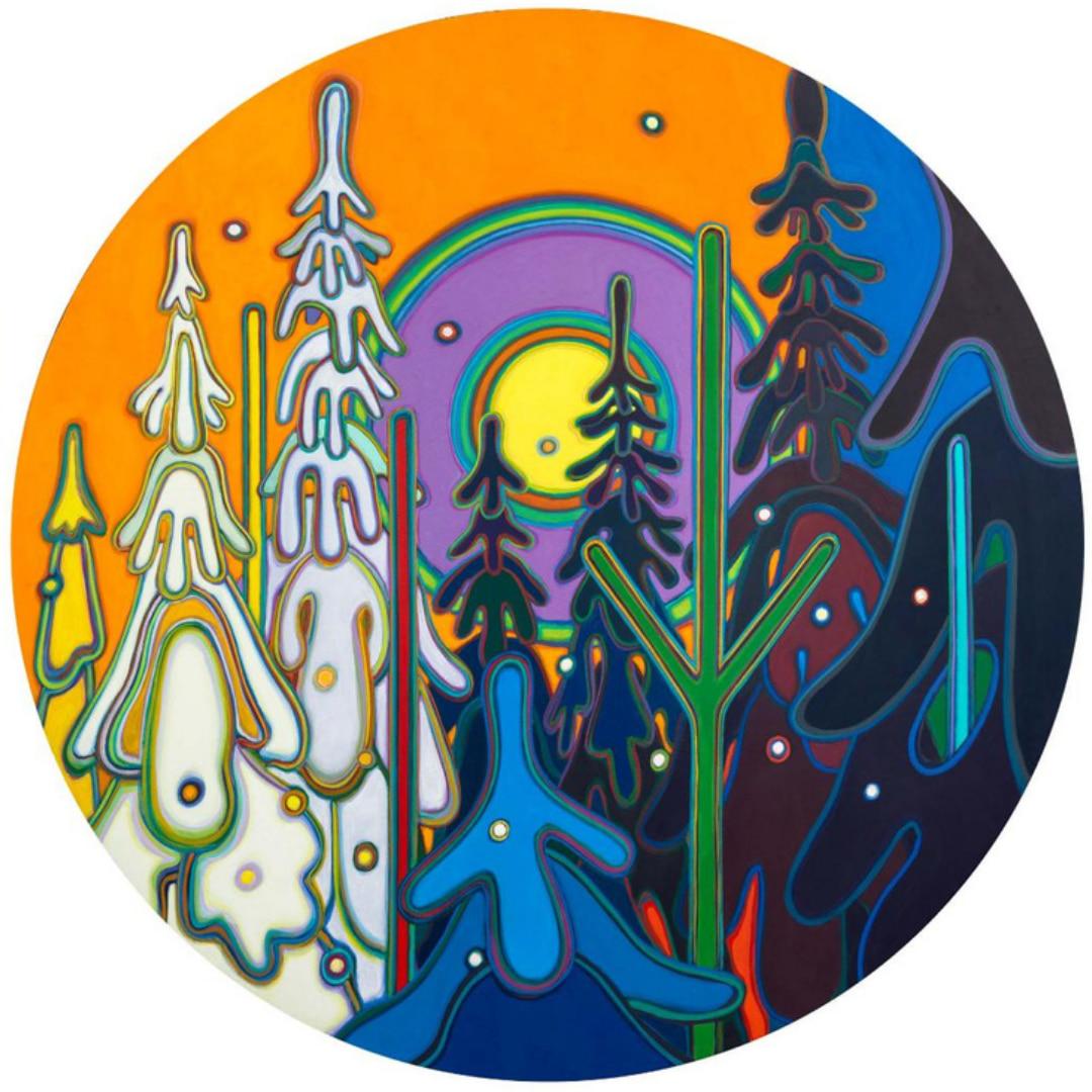 Snow Ghosts 44 Inch TONDO - Darlene Kulig