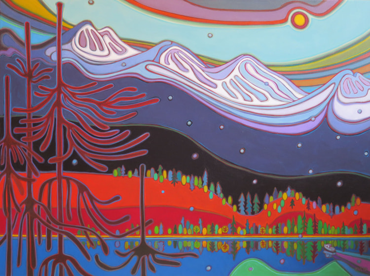 Tugboat Series - Cascade Mountains Grand Vista 36 x 48 - Darlene Kulig