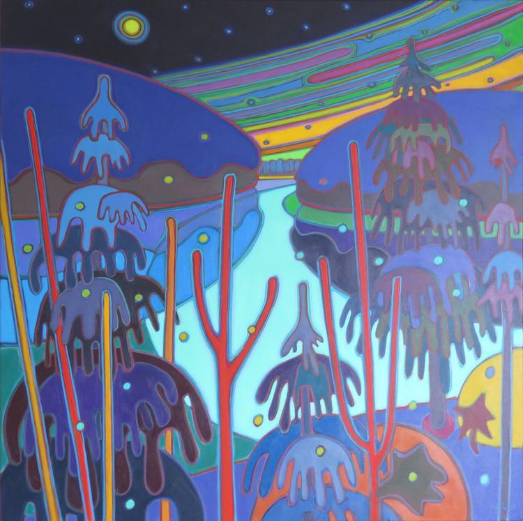 Winter Wonderland - First Snow 36 x 36 - Darlene Kulig