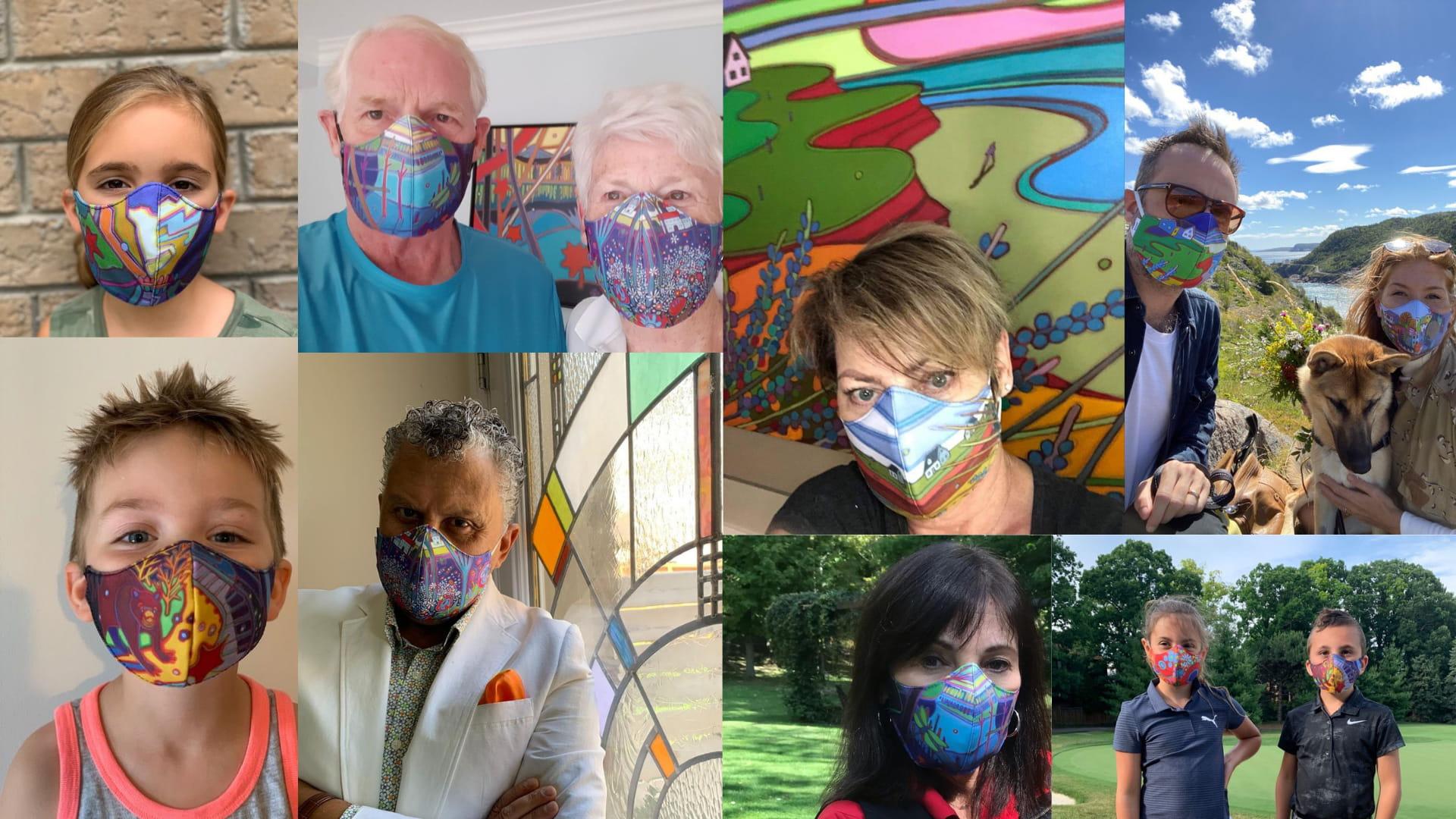 See who's wearing my masks - Blog feature - Darlene Kulig