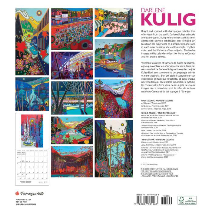 Darlene Kulig - Wall Calendar 2022 - Pomegranate