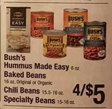 bushs hummus made easy coupon deal darlene michaud