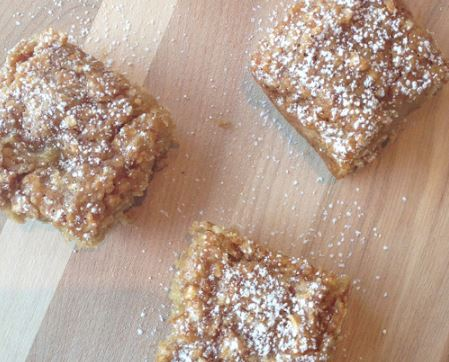 3 ingredient apple crisp bars recipe darlene michaud