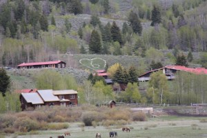 Western Guest Ranch near Jackson Hole and Yellowstone  Running horses and Grand Tetons