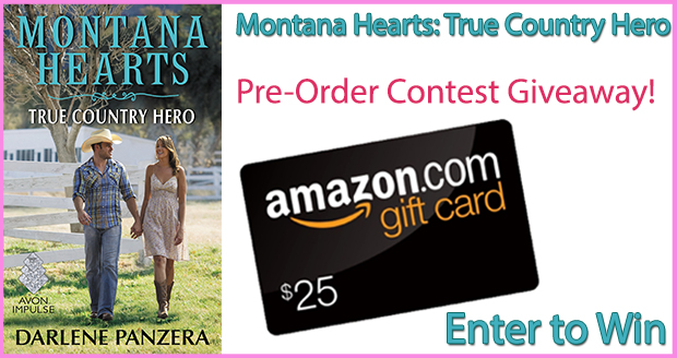 Pre-Order Montana Hearts: True Country Hero to be entered to win a $25 Amazon Gift Card
