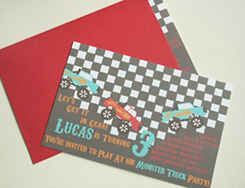 Monster Truck Invites
