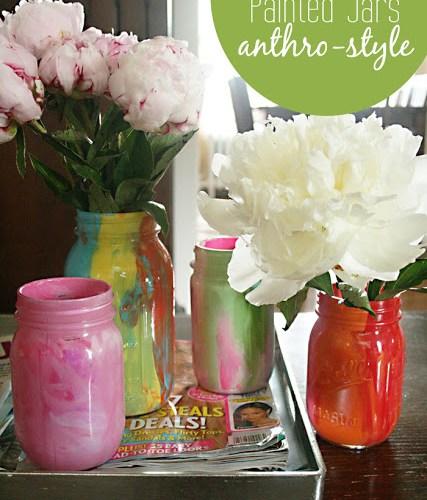 DIY: Painted Jars Anthro Style