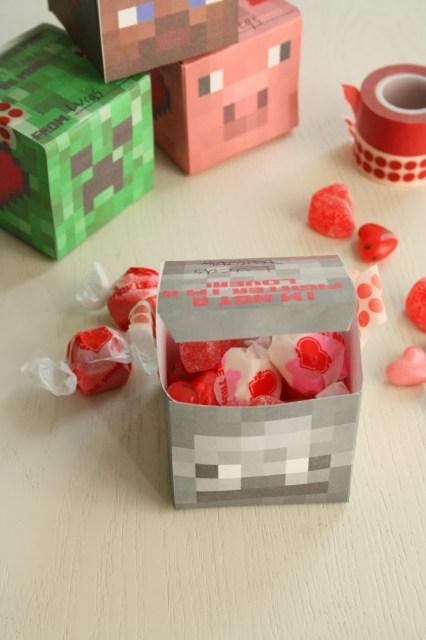 minecraft valentine cube box