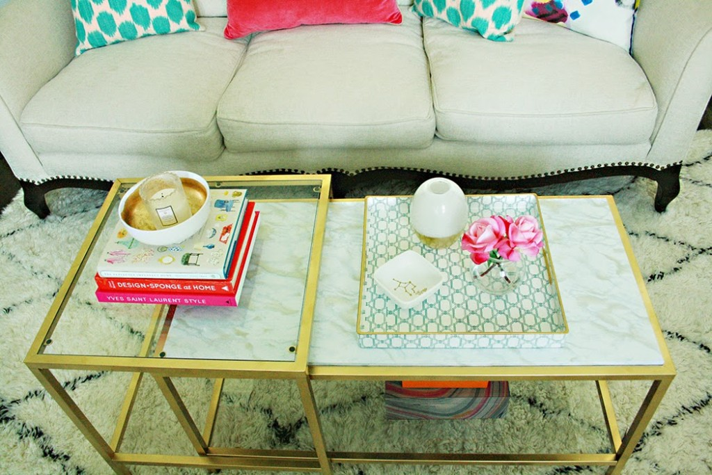DIY Marble Gold Coffee TableDarling DarleenA Lifestyle