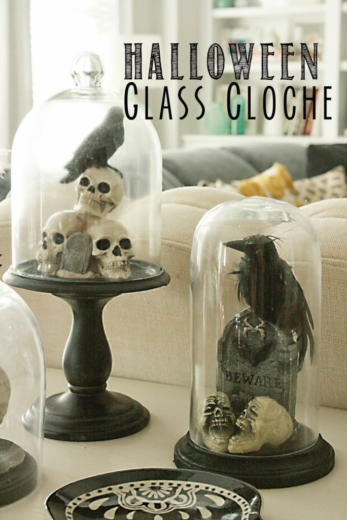 DIY: Halloween Glass Cloche