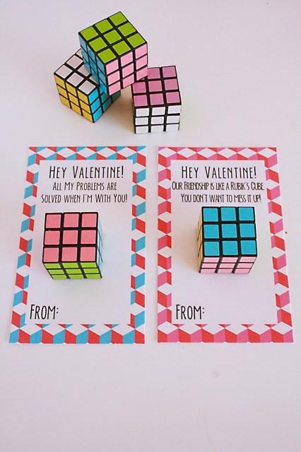 Rubik's Cube valentines @michellepaigeblogs.com