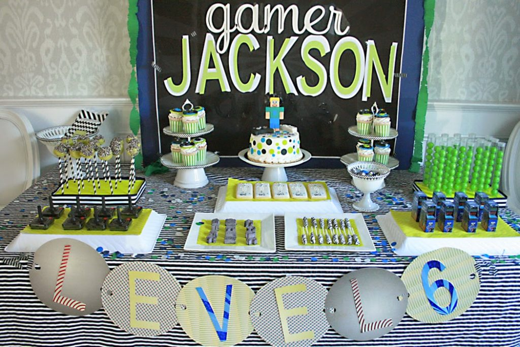 Video Game Birthday Party Darling Darleen A Lifestyle Design Blog