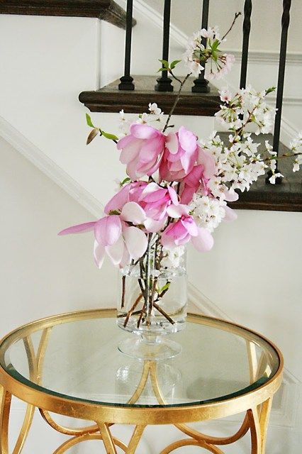 purple magnolia flowers spring blossom arrangements