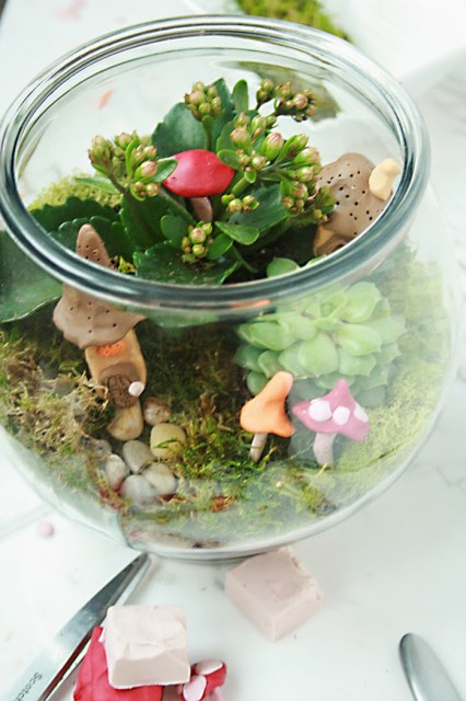 irish terrarium for st. patricks day decoration or leprechaun trap