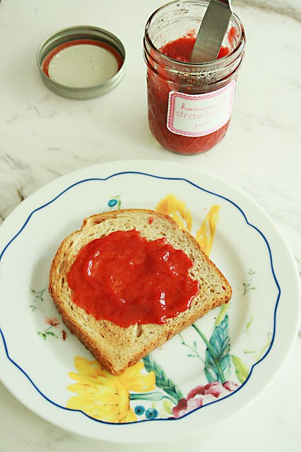 strawberry jam, homemade, recipe, healthy