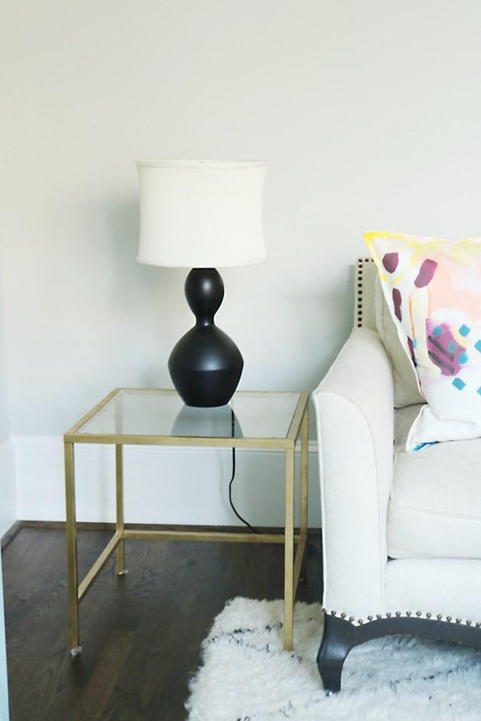 Black lamp before DIY