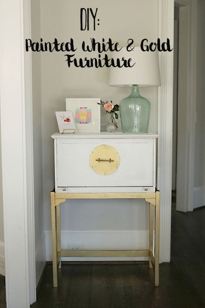 how-to-paint-furniture-white-and-gold using amy howard one step paint