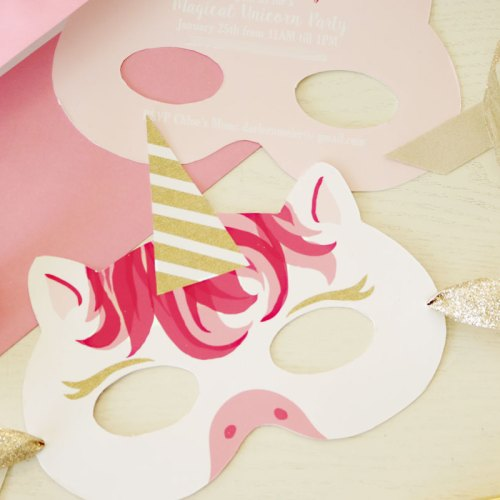 Unicorn Mask Invitation