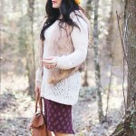 Boho Fur Sweater Outfit