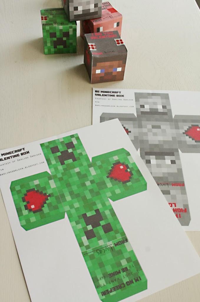 minecraft valentine, minecraft free printable, boy valentine