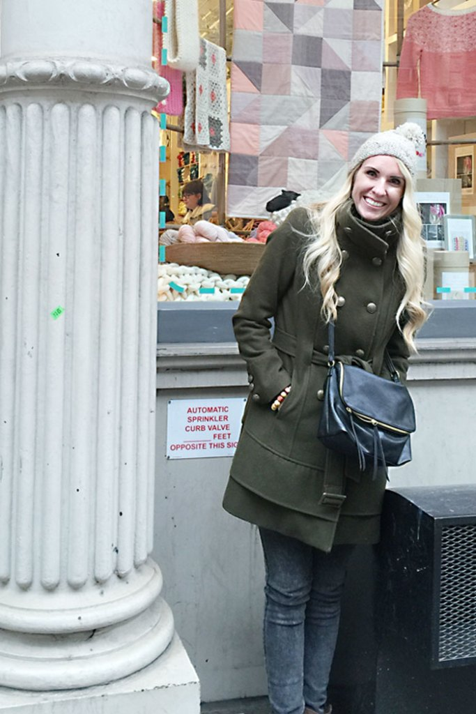 army-green-winter-coat-crossover-bag