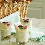 Healthy Lemon Curd Cheesecake in a Jar