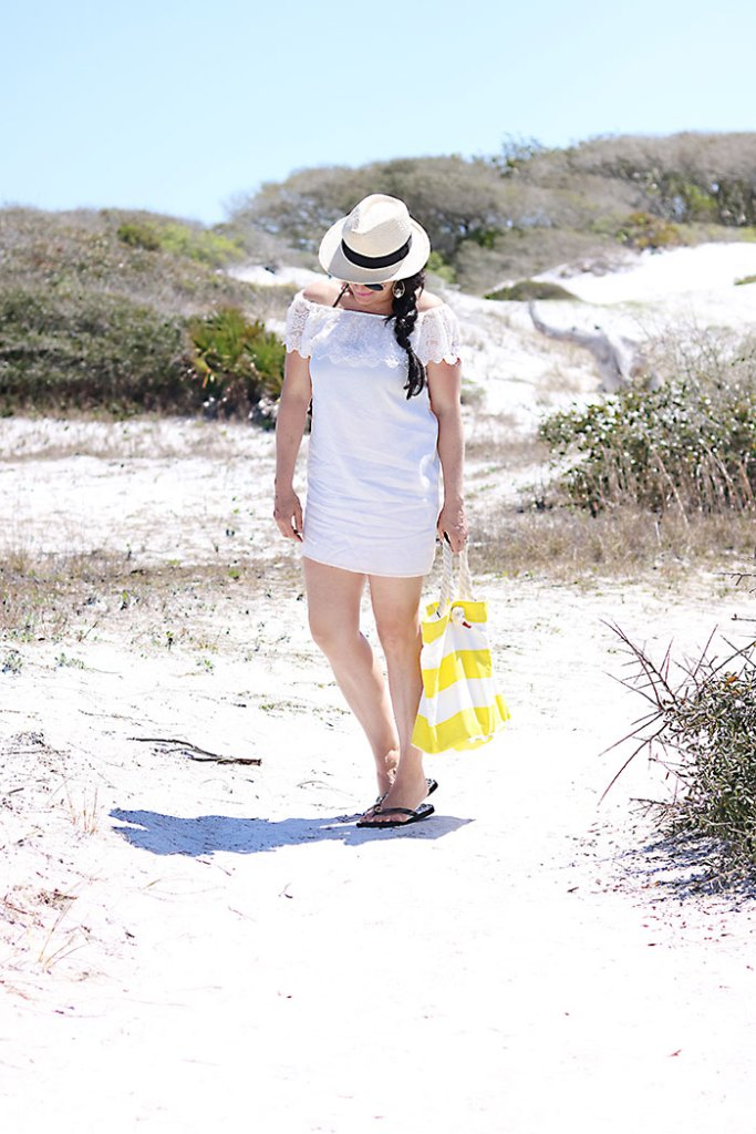 off-the-shoulder-white-dress