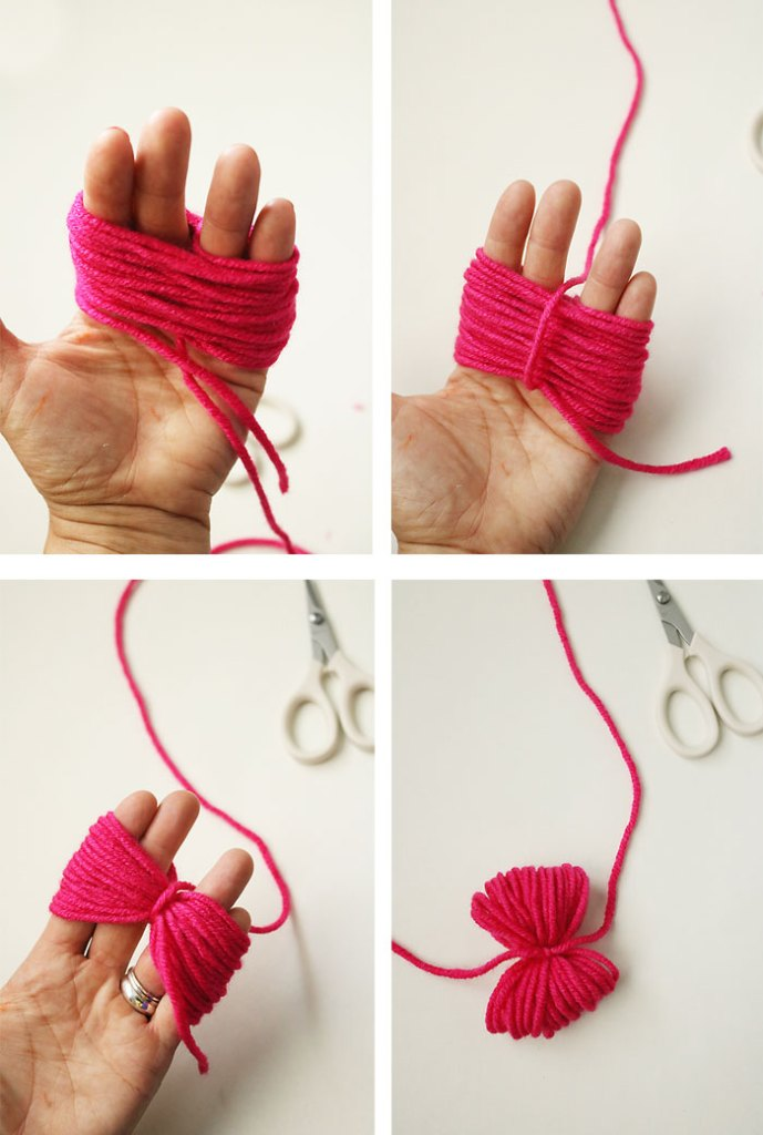 diy-pom-pom-yarn-bag-step2