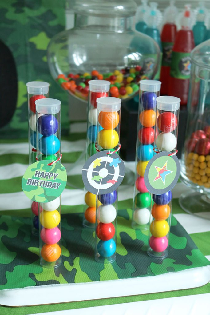 paintball-birthday-gumballs, paintball gum ball party favor, paintball birthday party, paintball birthday party for boys