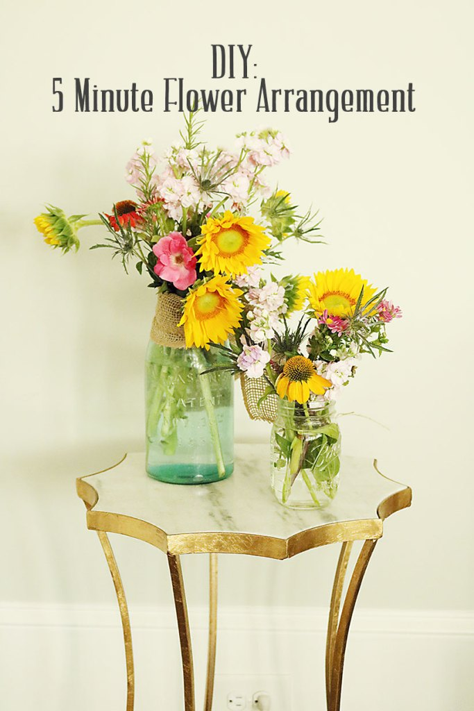 5-minute-flower-arrangment-with-words