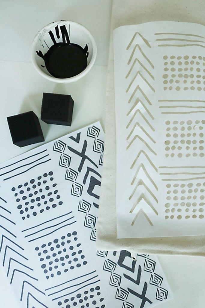 diy-mud-cloth-stencil-freezer-paper-supplies